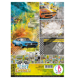 Ciao Bella Start your Engines Creative Pad A4 9/Pkg