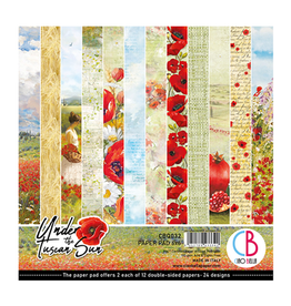 "Ciao Bella Under the Tuscan Sun Paper Pad 6""x6"" 24/Pkg"