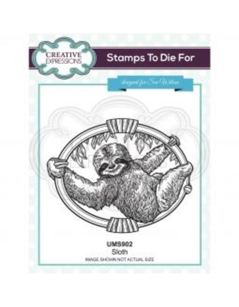 creative expressions  Creative Expressions • Pre cut stamp Luiaard