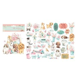 Stamperia Die Cuts - Circle of Love Cats, Dogs and Embellishments