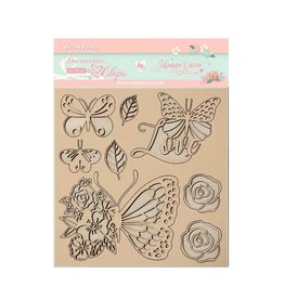 Stamperia Decorative chips 14x14 cm - Circle of Love butterfly