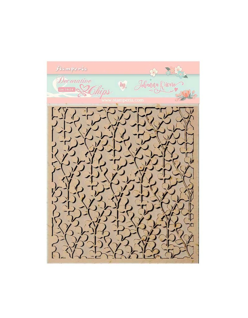 Stamperia Decorative chips 14x14 cm - Circle of Love texture