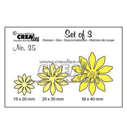 Crealies Crealies • Set of 3 cutting dies no.35 Flowers 17