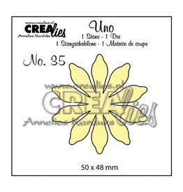 Crealies Crealies • Uno die Nr.35 Blumen 17