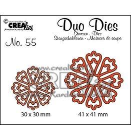 Crealies Crealies • Duo Dies Stanzen  Nr. 55 Blumen