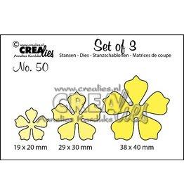 Crealies Crealies • Set van 3 snijmallen no.50 Bloemen 21