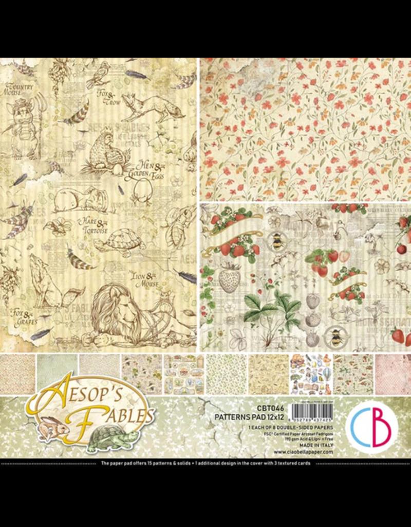 "Ciao Bella Aesop's Fables Patterns Pad 12""x12"" 8/Pkg"