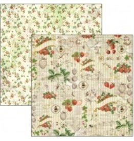 "Ciao Bella Strawberries Paper Sheet 12""x12"""
