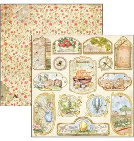 """Ciao Bella Aesop's Fables Tags & Frames Paper Sheet 12""""x12"""""""