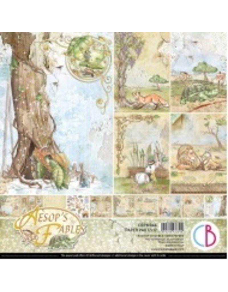 """Ciao Bella Aesop's Fables Paper Pad 12""""x12"""" 12/Pkg"""