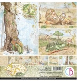 """Ciao Bella Aesop's Fables Paper Pad 8""""x8"""" 12/Pkg"""