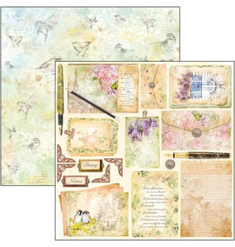 """Ciao Bella Poemes d'Amour Paper Sheet 12""""x12"""""""