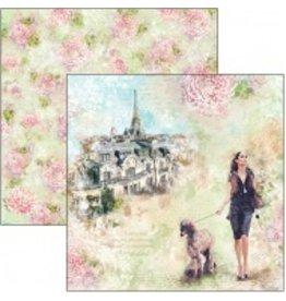 """Ciao Bella Les Rues de Paris Paper Sheet 12""""x12"""""""
