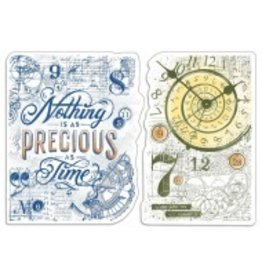 """Ciao Bella Clear Stamp Set 4""""x6"""" Nothing is as precious as ti me"""