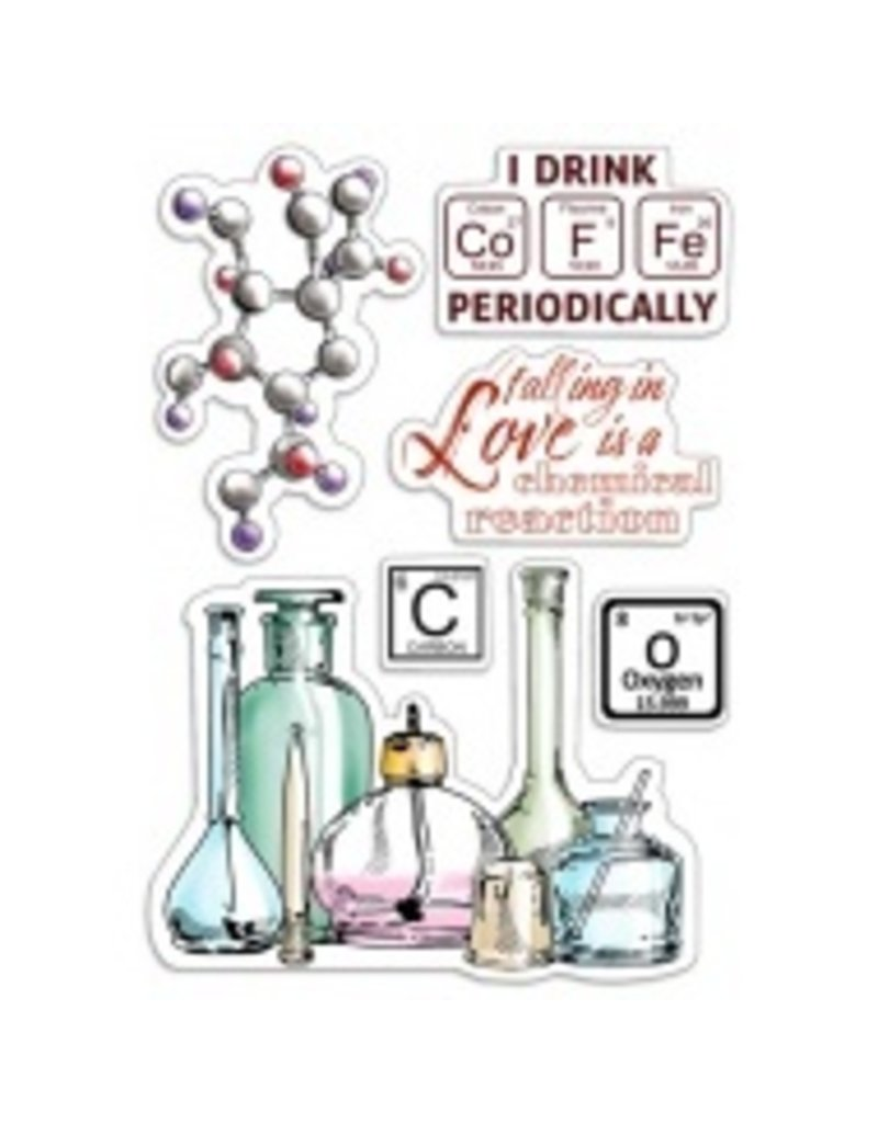 """Ciao Bella Clear Stamp Set 4""""x6"""" Chemical Reaction"""