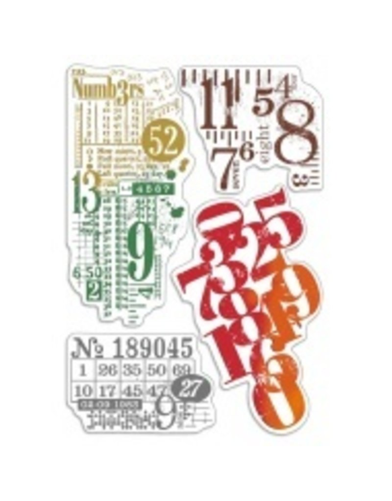 """Ciao Bella Clear Stamp Set 4""""x6"""" Numbers"""