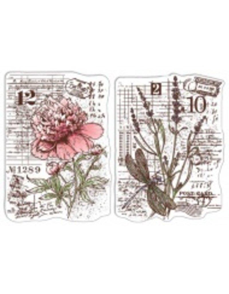 "Ciao Bella Clear Stamp Set 4""x6"" Botanical Postcards"