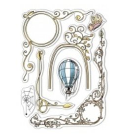 """Ciao Bella Clear Stamp Set 6""""x8"""" Aesop's Fables Frames"""