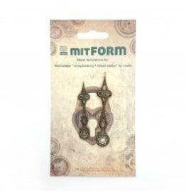 Mitform Mitform Clock 4 Metal Embellishments