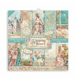 """Stamperia Extra small Pad 10 sheets - 15.24x15.24 (6""""x6"""") Double Face Sleeping Beauty"""