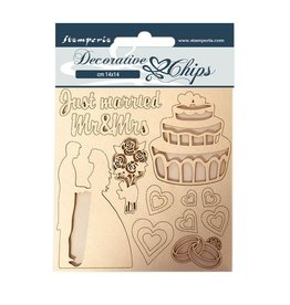 Stamperia Decorative chips 14x14 cm - Sleeping Beauty Just Married