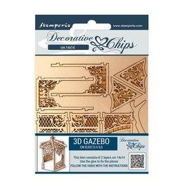 Stamperia Decorative chips 14x14 cm - Sleeping Beauty gazebo 2 pcs