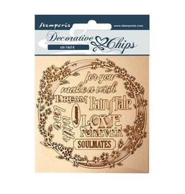 Stamperia Decorative chips 14x14 Sleeping Beauty garland love