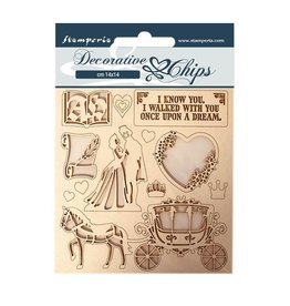 Stamperia Decorative chips 14x14 Sleeping Beauty coatch