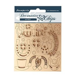 Stamperia Decorative chips 14x14 Good luck