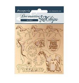 Stamperia Decorative chips 14x14 Freedom