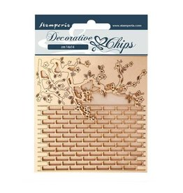 Stamperia Decorative chips 14x14 Alice wall