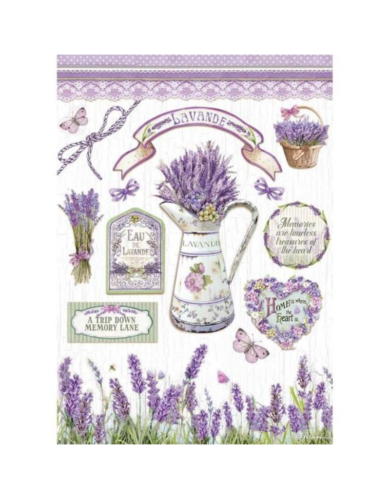 Stamperia A4 Rice paper packed - Lavender