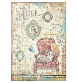 Stamperia A4 Rice paper packed - Alice looking-glass house