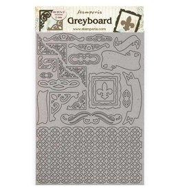 Stamperia A4 Greyboard 2 mm - Sleeping Beauty frames