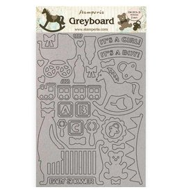 Stamperia A4 Greyboard 2 mm - Sleeping Beauty baby