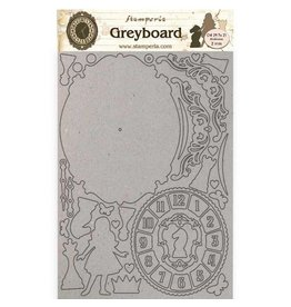 Stamperia A4 Greyboard 2 mm - Alice clock