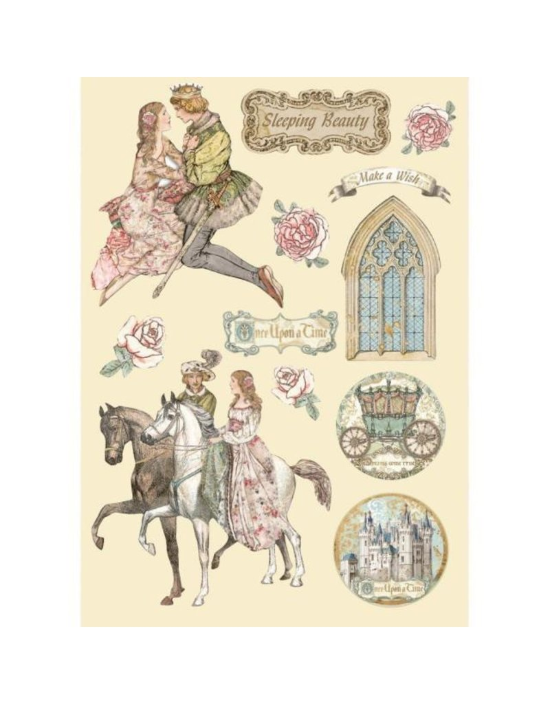 Stamperia Colored Wooden frame A5 - Sleeping Beauty