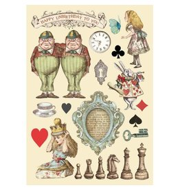 Stamperia Colored Wooden frame A5 - Alice chessboard