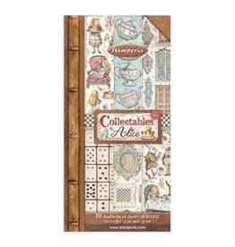 """Stamperia Collectables 10 sheets - 15x30,5 (6""""x12"""") - Alice through thelooking glass"""