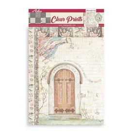 Stamperia Clear Prints: Pack 6 assorted acetate sheets A4 Alice
