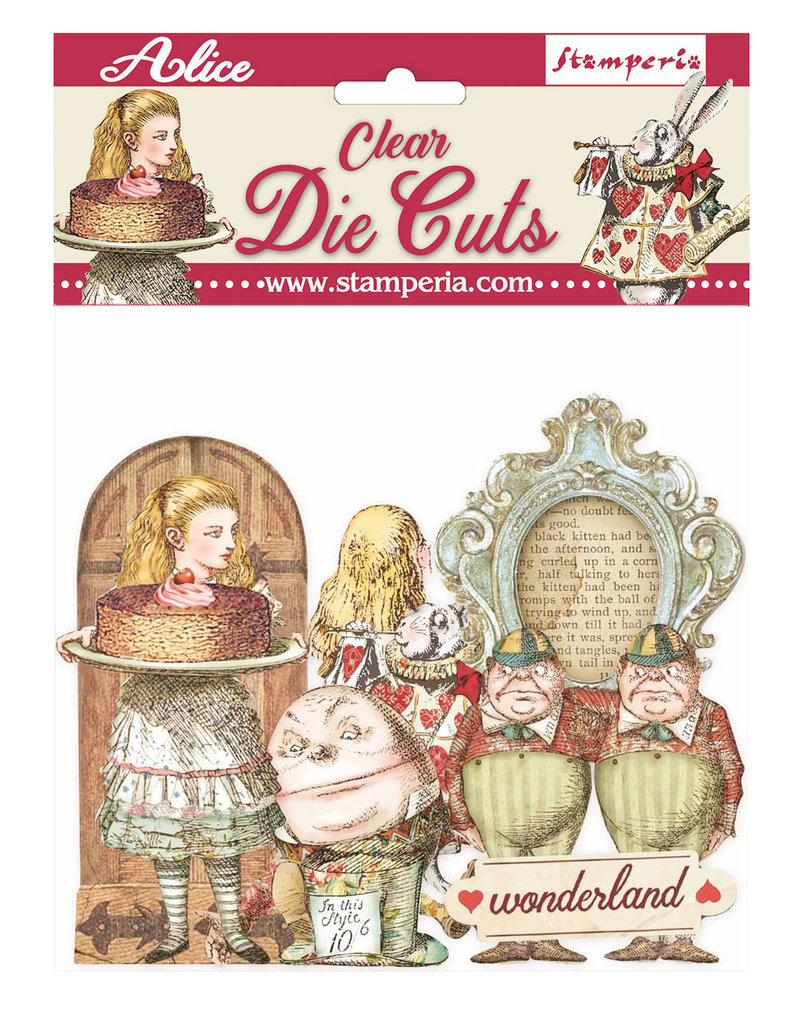 Stamperia Clear Die cuts - Alice through the looking glass