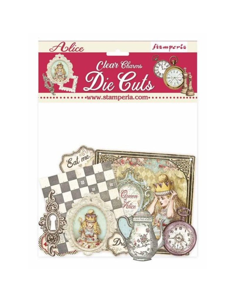 Stamperia Clear Die cuts - Alice Charms