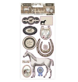 Stamperia Chipboard 15x30 cm - Romantic Horses