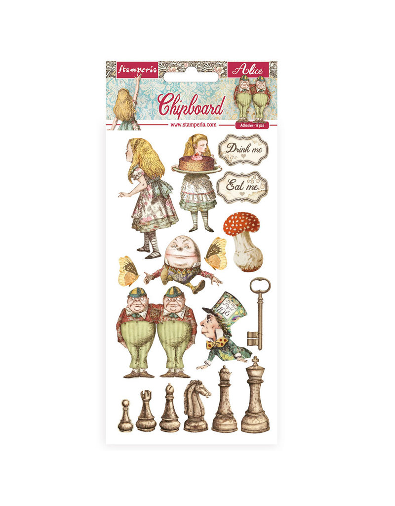 Stamperia Chipboard 15x30 cm - Alice through the looking glass