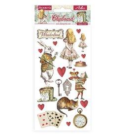 Stamperia Chipboard 15x30 cm - Alice in Wonderland