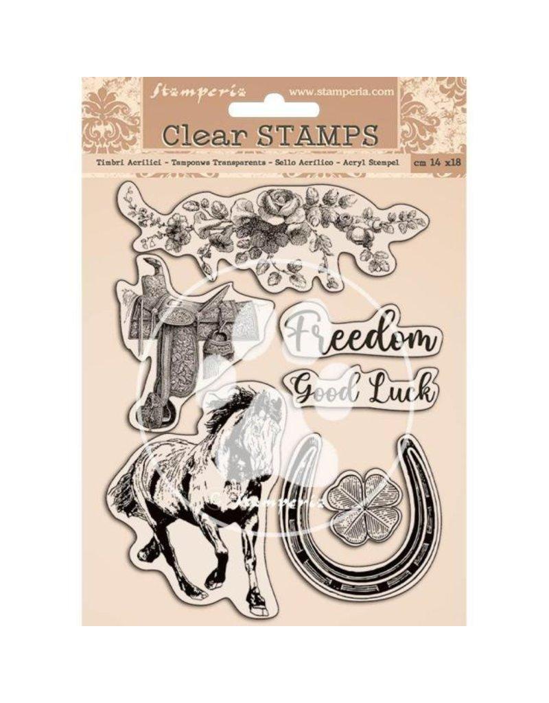 Stamperia Acrylic stamp 14x18 cm - Romantic Horses