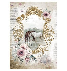 Stamperia A4 Rice paper packed - Romantic Horses lake