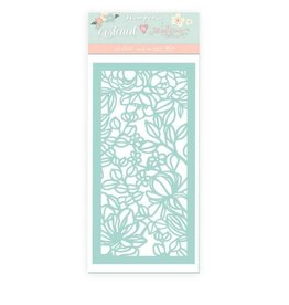 Stamperia Thick stencil cm 12x25 Celebration flowers and leaves