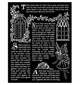 Stamperia Thick stencil 20x25 cm - Sleeping Beauty windows