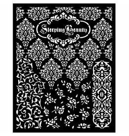Stamperia Thick stencil 20x25 cm - Sleeping Beauty textures